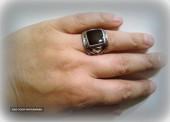 Печатка серебряная с ониксом, кольцо N48