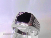 Серебряное кольцо - печатка